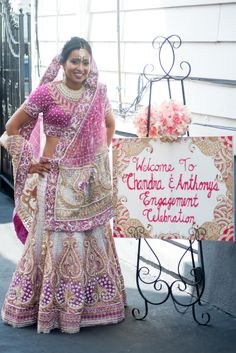 A New Jersey Hindu Engagement Ceremony, Chandra & Anthony Multicultural Wedding, Engagement Celebration, New Jersey, Dresses With Sleeves, Celebrities, Long Sleeve, Fashion, Moda, Celebs
