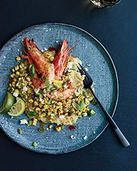 White Quinoa Grits with Shrimp and Mexican Grilled Corn | Food & Wine