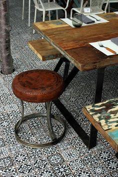 FEZ Black Vintage Moroccan Victorian Encaustic Effect Pattern Wall Floor Tiles…