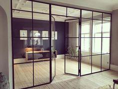 For priser og tilbud- kontakt kbh@onefunkyfurniture.dk #home #homedecor #interiør #interior #interiordesign #unique #glasswall #glasvæg #skillevæg
