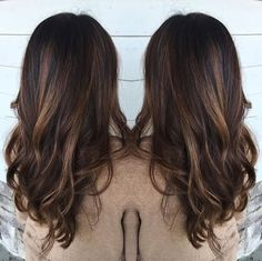 Warm brown hair with balayage by Rebecca at Avante Salon and Spa, West Chester PA