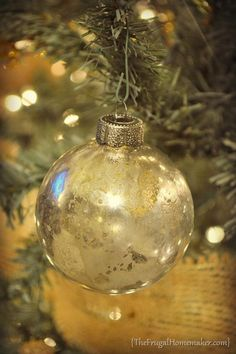 DIY Mercury Glass Ornaments