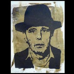 Portrait of Joseph Beuys 2013/512 Acrylics on paper by Daniel Pultorak #art
