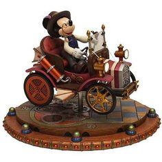 Mickey Mouse Mechanical Kingdom car roadster steampunk figure figurine sculpture gears walt disney world wdw disneyland Downtown Disney Shops, Walt Disney Co, Disney Parks Blog, Disney Mickey Mouse, Disney Cruise, Disney Gift, Disney Fun, Disney Magic, Disney Figurines