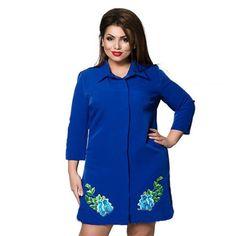 95e2c6e24bd32b Casual Applique Women's Fashion Button Front Shirt Dress L-6XL 4 Color –  Floessence