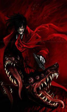 Alucard by akreon.deviantart../ exactly how I like vampires