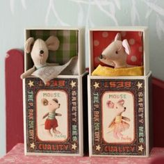 Maileg Little Brother/Sister Mouse in Matchbox www.willowandstone.co.uk #mice #mouse