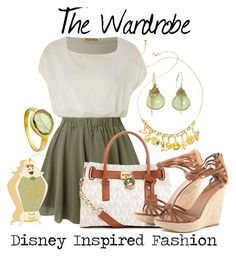 """""""The Wardrobe - from Disney's Beauty and the Beast"""" by elliekayba ❤ liked on Polyvore featuring Jolie Moi, Astley Clarke, Nan Fusco, Pippa Small, MICHAEL Michael Kors, disney, disneybound, BeautyandtheBeast and TheWardrobe"""