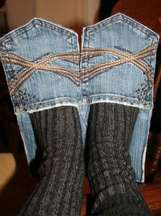 Jeans Into Cozy Slippers (how to)