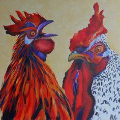 Speak To The Beak - painting by artist Kay Wyne