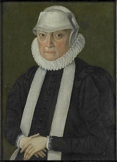 24-11-11  Anonymous (Cologne)    Title	  Portrait of a woman, probably Anna Jagiellon (1522-96), queen of Poland.[1]    Alternate title(s):  Anna Jagiellon, elected King of the Polish-Lithuanian Commonwealth (1575–1586).    Date	  1570-1599    Medium	  Oil on panel    Dimensions	  19.2 × 14.2 cm (7.6 × 5.6 in)    Current location	  Rijksmuseum Amsterdam
