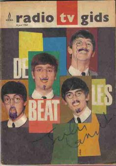John Lennon drew the faces and the autograph.