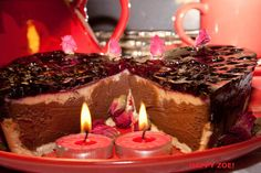 Vegan  Vanillachocolate cheesecake with blueberries by VEGANLOTUS, $20.00