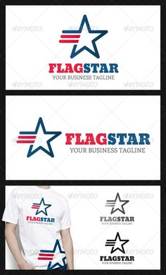 Flag Star Logo Template  #GraphicRiver         - Three color version: Color, greyscale and single color.  - The logo is 100% resizable.  - You can change text and colors very easy using the named and organized layers that includes the file.  - The typography used is Bevan you can download here:  .fontsquirrel /fonts/bevan and  .fontsquirrel /fonts/enriqueta       Created: 19March13 GraphicsFilesIncluded: VectorEPS #AIIllustrator Layered: Yes MinimumAdobeCSVersion: CS Resolution: Resizable…