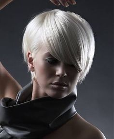 Platinum Blonde Hair Color for Short Hairstyle Hair Styles 2014, Wig Styles, Medium Hair Styles, Short Hair Styles, Short White Hair, Short Hair Cuts, Platinum Blonde Hair Color, Platinum Pixie, Square Face Hairstyles