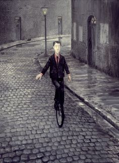 Mike Worrall 1942 | British Surrealist painter | Tutt'Art@ Reminds me of the cobbled streets in Blackburn