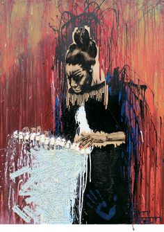 nilelivingston:  Nina Simone wood, twigs, paint, sheet music, headphones, fishing line, found objects48″ x 36″ x 2.25″
