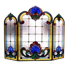 Chloe Lighting Tiffany Style Victorian Fireplace Screen with 36 Cabochons - CH40B201FS