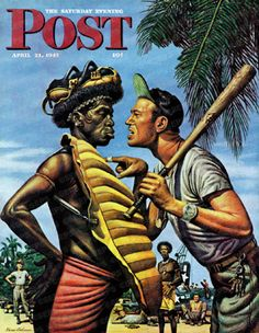 Island Game by Stevan Dohanos, April 21, 1945, The Saturday Evening Post.