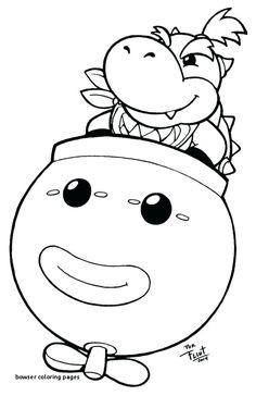 Bowser Jr Mask Coloring Page - Coloring Pages For All Ages ...