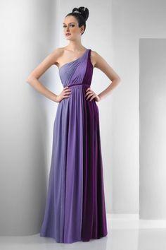 Chiffon A-line One-shoulder Floor-length Bridesmaid Dresses