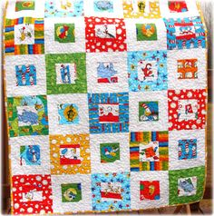 Dr Seuss Baby Quilt Free US Shipping by CarleneWestberg on Etsy, $140.00