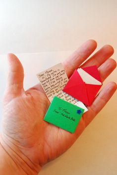 Letter from Santa's Elf tiny and by ArtToHeartCreations on Etsy, $3.50