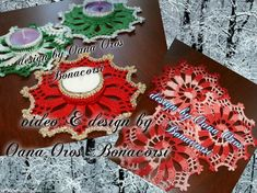 Crochet candle holder or Christmas coaster