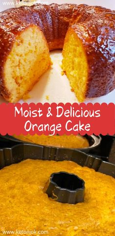 Moist and Delicious Orange Cake - Special Cake Easy Cake Recipes, Dessert Recipes, Desserts, Orange Juice Cake, Orange Cakes, Fruit Rose, Frozen Chocolate, Savoury Cake, Cupcake Cakes
