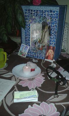 Visita da  imagem peregrina Nossa Senhora de Fátima aqui em casa. 13/03/16