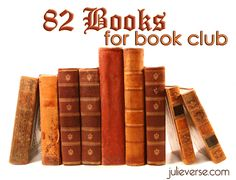 82 books to read; will be great for book club