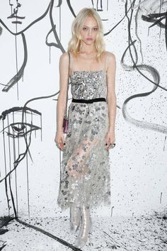 Sasha Pivovarova attends the Dior SpringSummer 2018 Collection launch event at Milk Garage on February 6 2018 in New York City