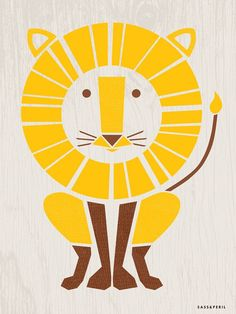 """""""Modern Animals - Lion"""" by Sass & Peril, Animal Canvas Wall Art 