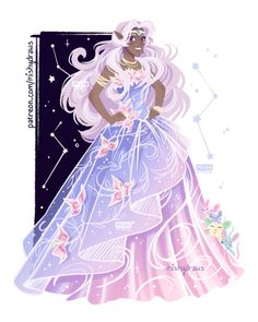 """mishydraws: """" """"Juniberries 🌸 🌸 🌸 """" I saw a gown in a game ad and thought it'd look nice on Allura 💕 Patreon Form Voltron, Voltron Ships, Voltron Klance, Voltron Cosplay, Voltron Fanart, Black Characters, Female Characters, Disney Characters, Fictional Characters"""