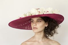 Pink straw with real touch orchids- Georgina Heffernan milllinery #HatAcademy #millinery