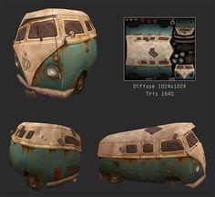ArtStation - Wrecked Kombi, Felipe Alves