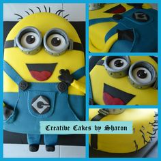Despicable Me Minion! Learn how to make you own creative cake like this one here : http://youtu.be/aJ67VIJ4NLo