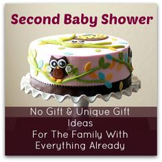 second baby shower unique or no gift ideas