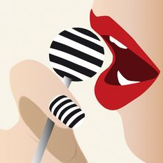 Fashion Illustration – Pop Culture – Lolipop – Red Lips – Fashion art print – Sensual Woman – Modern Wall Art – Contemporary Look Modeillustration – Sinnliche Lippen – Frau – Sexi – Plakat – Popkultur – Dekoration – Plakat – Moderne Kunst Arte Pop, Cultura Pop, Illustration Mode, Illustration Fashion, Fashion Illustrations, Fashion Sketches, Metal Tree Wall Art, Art Moderne, Modern Wall Art