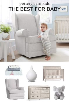 All about style and sustainability, our nursery essentials are made with the best materials, from the comfiest organics to breathe-easy, clean-air furniture for a healthier haven to grow. Baby Registry Checklist, Breathe Easy, Baby Safe, Pottery Barn Kids, Baby Gear, Sustainability, Baby Kids, Armchair, Essentials
