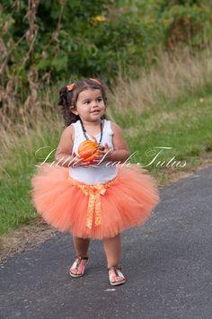Pumpkin Camo Tutu - Fall Halloween Tutu, Girls Tutu, Infant Tutu, Photography Prop, Birthday Outfit, Baby Tutu