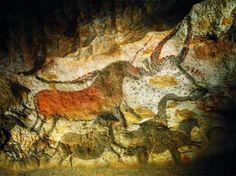 Détail de la Salle des Taureaux, paroi gauche- LASCAUX II. Mallette pédagogique Histoire des arts cycle 3  http://www.milan-ecoles.com/Professionnels/Mallette-Histoire-des-arts-Cycle-3