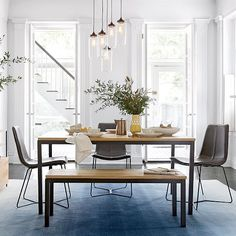 Box Frame Dining Table Wood Dream Home Pinterest Woods - West elm box frame dining table