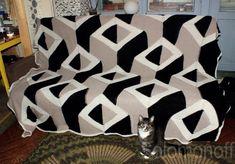 Обещанное описание вязания геометрического пледа Knitted Afghans, Knitted Blankets, Knitting Videos, Knitting Projects, Animal Print Rug, Rubrics, Projects To Try, Pink, Quilts