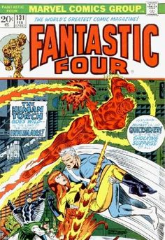 Human Torch - Quicksilver - Inhumans - Thing - Crystal - Jim Steranko