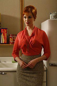 1960's blouse. Christina Hendricks. Kibbe Romantic. Sun:  12°38' Taurus      Moon: 17°49' Aquarius