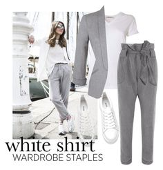 """White shirt"" by elza-345 ❤ liked on Polyvore featuring T By Alexander Wang, Vivienne Westwood Anglomania, Miss Selfridge and WardrobeStaples"