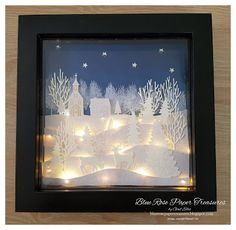 Blue Rose Paper Treasures: Christmas Lighted Shadow Box 8 x 8 Blue Rose Paper Treasures: Christmas Lighted Shadow Box 8 x 8 The post Blue Rose Paper Treasures: Christmas Lighted Shadow Box 8 x 8 appeared first on Paper Diy. Christmas Shadow Boxes, Stampin Up Christmas, Noel Christmas, Christmas Crafts, Christmas Decorations, Xmas, Christmas Box Frames, White Christmas, Christmas Ideas