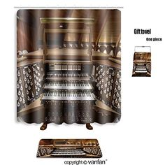 vanfan bath sets with Polyester rugs and shower curtain church pipe organ keyboards pedalboard and co shower curtains sets bathroom 66 x 72 inches&23.6 x 15.7 inches(Free 1 towel and 12 hooks) #vanfan #bath #sets #with #Polyester #rugs #shower #curtain #church #pipe #organ #keyboards #pedalboard #curtains #bathroom #inches&. #inches(Free #towel #hooks)