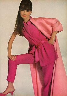 """""""Like the inside and outside of a rose"""" is how Vogue describes Audrey Hepburn's Givenchy ensemble."""